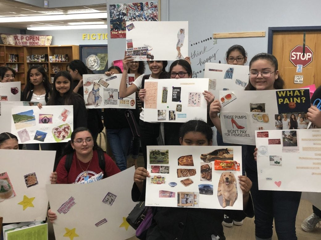Empowered Fem Teens: Vision Board Party at Martin MS