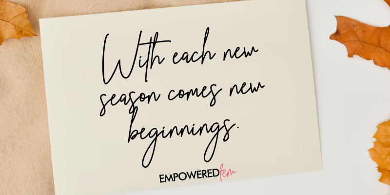 With each new season comes new beginnings. - A Very Basaldu Thanksgiving